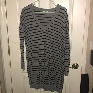 Long striped Madewell Sweater dress L